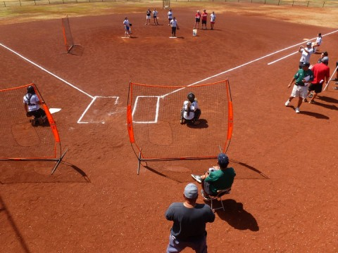Pitching Drills and Observation at the New City Nissan College Camp