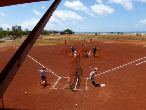 Batting Showcase at the New City College Camp